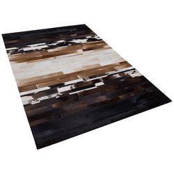 Dywan czarno-beżowy 160 x 230 cm skórzany dalyan marki Beliani