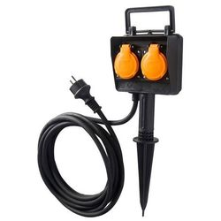 Przedłużacz ogrodowy Diall wtykany 3 x 1,5 mm2 5 m (3663602737780)
