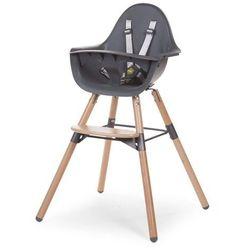 CHILDWOOD Wysokie krzesełko dla dziecka 2-w-1 Evolu 2, antracyt (5420007143213)