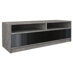 Stolik szafka rtv karo 120cm beton czerń połysk marki Topeshop rtv deko
