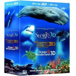 Rekiny/Perła Oceanów/Delfiny i Wieloryby [Blu-Ray 3D|2D] z kategorii Filmy dokumentalne