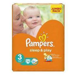 Pieluszki Pampers Sleep&Play 3 MIDI, 78 szt. - produkt z kategorii- Pieluchy jednorazowe