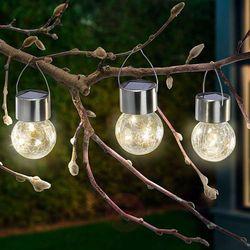 Lampy solarne LED Crackle Ball 3 szt., 3 000 K (4260057867780)