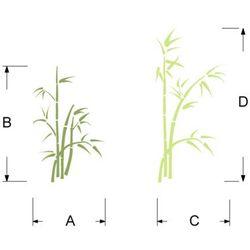Szabloneria Szablon malarski, wielorazowy, flora 157 multikolor - bambusy