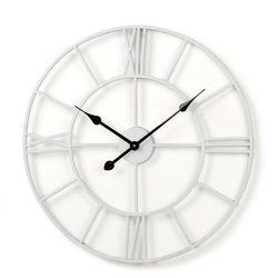 LaForma:: Zegar AUDRIN śr.60cm biały - biały