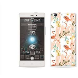 Fantastic Case - Allview X1 Soul - etui na telefon Fantastic Case - różowe flamingi (Futerał telefoniczny)