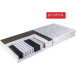 Janpol ariadna - materac kieszeniowy, sprężynowy, rozmiar - 200x200, pokrowiec - jersey standard wyprzedaż,