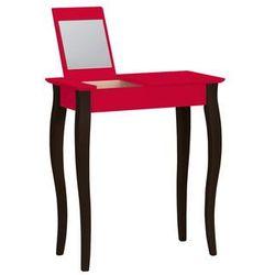 Toaletka z lustrem LILLO czerwona z czarnymi nogami