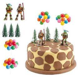 Daisy Urodzinowy zestaw dekoracji tortu wojownicze żółwie ninja - 7 elem.
