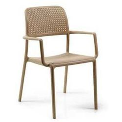 Designerskie krzesło ogrodowe do restauracji Nardi Bora beżowe