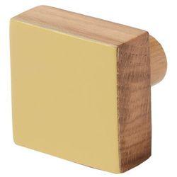 Wieszaczek drewniany goodhome nantua żółty marki Cooke&lewis