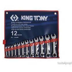 Zestaw kluczy płasko-oczkowych krótkich 12cz. 8 - 19mm 1282mr marki King tony