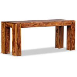 Vidaxl ława, lite drewno sheesham, 110 x 35 45 cm