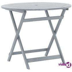 składany stół ogrodowy, 90x75 cm, lite drewno akacjowe marki Vidaxl