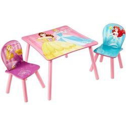 stolik i 2 krzesła z księżniczkami, 45x63x63 cm, różowy marki Disney