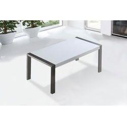 Beliani Stół do jadalni ze stali nierdzewnej biały 180 x 90 cm arctic i