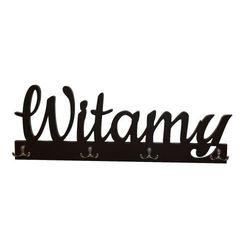 Wieszak drewniany z napisem witamy marki Wajdrew