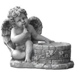 1 Figura ogrodowa betonowa aniołek z donicą 28cm