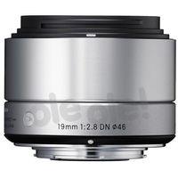 Sigma  19 mm f/2,8 dn a (srebrny) sony e - produkt w magazynie - szybka wysyłka!