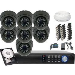 Zestaw do monitoringu 7x Kamera 900TVL z IR do 25m Dysk 500GB - produkt z kategorii- Pozostałe