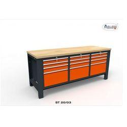 """Malow Stół warsztatowy st20/03 """"trójka"""" 12 szuflad na narzędzia 2000 mm"""
