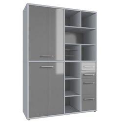 Regał biurowy set+ 216x155 cm, szary, mdf, 16896383 marki Maja-möbel