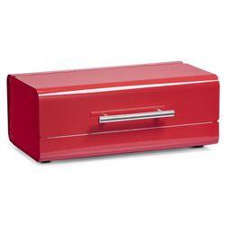 Metalowy chlebak, pojemnik na pieczywo, kolor czerwony,  marki Zeller
