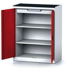Alfa 3 Szafa warsztatowa mechanic, 1170 x 920 x 500 mm, 2 półki, 1 szuflada, czerwone drzwi
