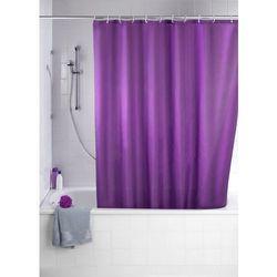 Zasłona prysznicowa, tekstylna, kolor fioletowy, 180x200 cm, WENKO, B008MVW002