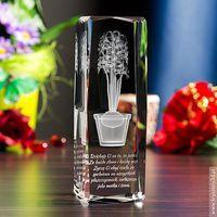 Hiacynt 3D • personalizowany kryształ 3D wysoka • GRAWER 3D