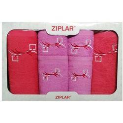 KOMPLET ręczników 6 szt. ZIPLAR wrzosowy/koralowy, ZR02-2-14
