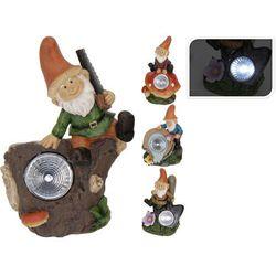 Lampa solarna krasnal figurka kamienna - Wzór II - produkt dostępny w GardenWorld