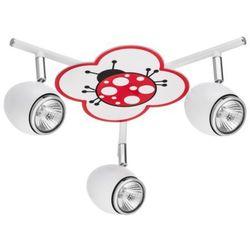 Britop lighting Lampa dla dziecka biedronka - fly biały/ chrom led 3x4,5w gu10 (5902166900970)