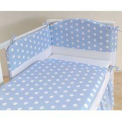 MAMO-TATO pościel 3-el Groszki niebieskie do łóżeczka 60x120cm