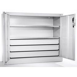 Szafa o dużej pojemności, szafka dostawna z 2 półkami, 3 szuflady, głęb. 400 mm,