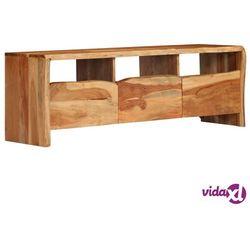 szafka pod telewizor, akacja z naturalną krawędzią, 120x35x40cm marki Vidaxl