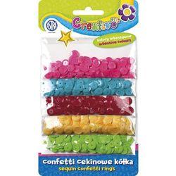 Astra, Confetti cekinowe, kółka na blistrze, mix 5 kolorów intensywnych, 1000 szt.