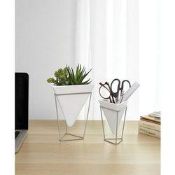 - wazon/pojemnik dekoracyjny trigg, nikiel, 2 szt. marki Umbra