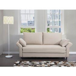 Sofa do spania beżowa - kanapa - rozkładana - wypoczynek - exeter, marki Beliani