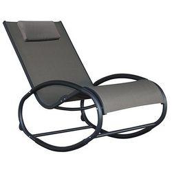 Fotel bujany, czarno-szary WAVER1