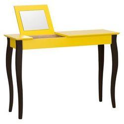 Toaletka LILLO z lusterkiem - duża/żółta z czarnymi nogami