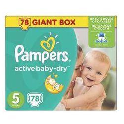 Pieluszki Pampers Active Baby-dry rozmiar 5 Junior, 78 szt. z kategorii Pieluchy jednorazowe