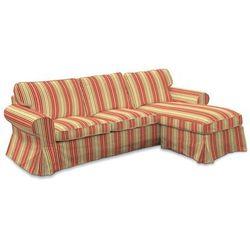 Dekoria  pokrowiec na sofę ektorp 2-osobową i leżankę, kolorowe pasy, sofa ektorp 2-os. i leżanka, londres