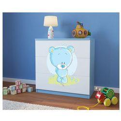 Kocot-meble Komoda dziecięca babydreams niebieski miś kolory negocjuj cenę