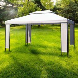 Vidaxl ogrodowa altana, namiot ogrodowy z podwójnym dachem 3x4 (8718475837701)