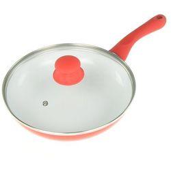 Tiross Patelnia ceramiczna 24 cm czerwony [ts-1241]