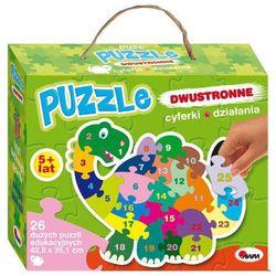 Puzzle dwustronne Cyferki działania dinozaur