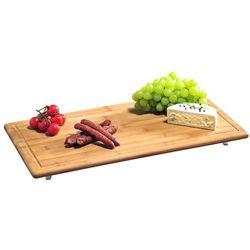 Kesper Deska do krojenia z drewna bambusowego, deska do krojenia, bambusowa deska do krojenia, deska do serwowania, akcesoria kuchenne, (4000270585913)