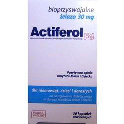 Actiferol fe 30 mg x 30 kaps (lek suplementy ciążowe)