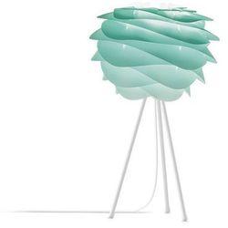 CARMINA - Lampa stojąca Tie&Dye Turkusowy Śr.32cm Statyw Biały 37cm